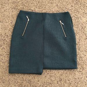 Dark Teal Asymmetrical BodyCon skirt